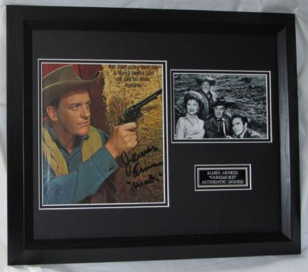 "A1JA.  JAMES ARNESS SIGNED MATT DILLON ""GUNSMOKE"" AUTHENTIC + COMIC AFTAL DEALER #199"